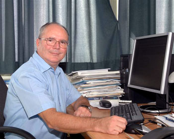 Prof. Dr.  Davor Juretić in his workplace
